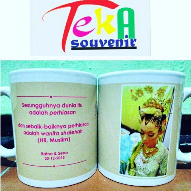 souvenir mug solo pernikahan